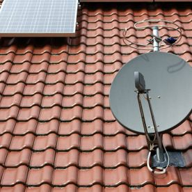 A satellite dishwe installed.