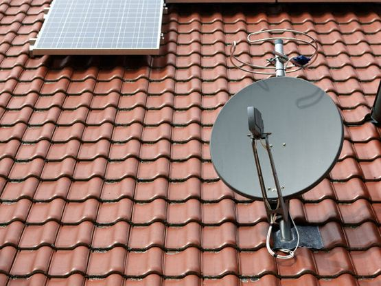 A satellite dish we installed.